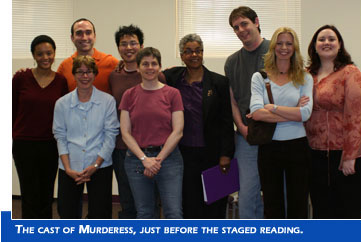 The cast of Murderess, just before the staged reading.